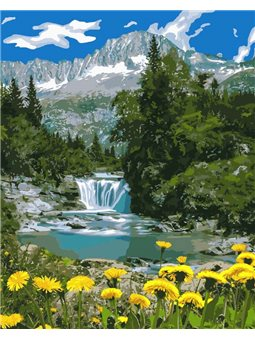 Картины по номерам - Горный водопад (КНО2283)