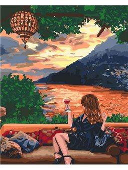 Картины по номерам - Любуясь закатом (КНО4730)