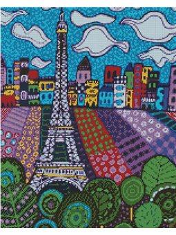 Алмазная вышивка - Облака в Париже (АМ6032)