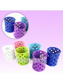 Стакан для ручек 562004 Fashion 6 цветов в ассортименте Сердечки