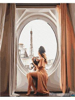 Картина по номерам Brushme 'Отель с видом на Париж' [GX25453]