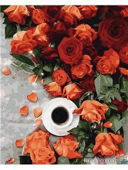 Картина по номерам Brushme 'Кофе з запахом роз' [GX34811]