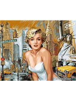 Картина по номерам Brushme 'Монро в Нью Йорке' [GX8882]