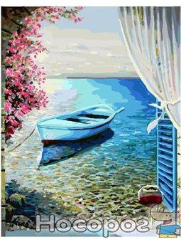 Картина по номерам Brushme 'Лодка у лоджии' [GX24698]