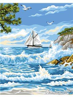 Картина по номерам Brushme 'Прибой у острова' [GX24116]