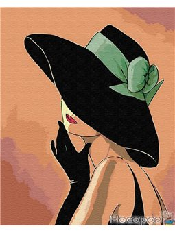 Картина по номерам Brushme 'Дама в шляпе' [GX30461]