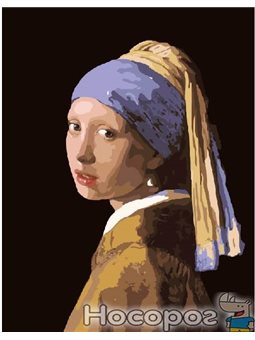 Картина по номерам Brushme 'Девушка с жемчужной серёжкой. Ян Вермеер' [G223]