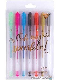 "Ручки гелевые YES ""Oh My Sparkle!"", глиттер, набор 7шт. [Y-011P-7]"