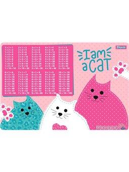 """Подложка для стола 1Вересня детская """"I am a cat"""" (табл.умножения) [1В-43х29]"""