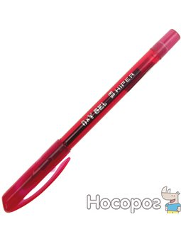 Ручка гелева Hiper Oxy Gel 0,6 мм червона (10) №HG-190