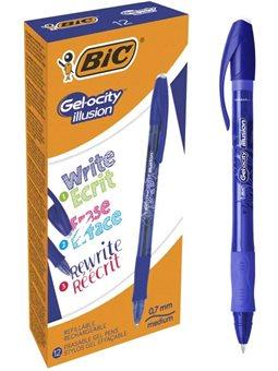 Набор гелевых ручек пиши-стирай BIC Gelocity Illusion Синий 0.7 мм 12 шт (3086123460119)