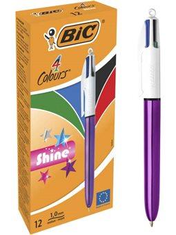 Набор шариковых ручек BIC 4 Colours Shine Purple 1 мм 12 шт (3086123502901)