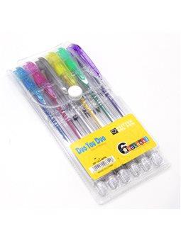 Ручки в наборе 6 цветов гель перламутр SP103-WP6 / M35-27 023170 (48)