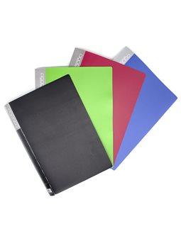 Папка пластиковая А4 на 40 файлов, YL40AB, в асс., 254493