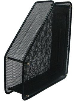 Лоток Лидер вертикальный, 1 отделение, металлический, черный, сетка 535500