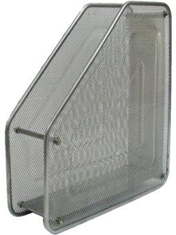 Лоток Лидер вертикальный, 1 отделение, металлический, серебро, сетка 535490