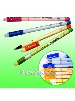Ручка пиши-стирай AKPB1472 синя, 0,5 мм Happy School (12)