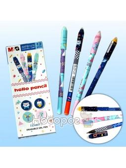 Ручка пиши-стирай AKPB1476 синяя Hello Pencil