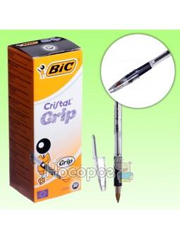 Ручка шариковая BIC Кристал Грип черная 889984