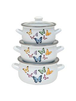 Набор кастрюль INFINITY Butterflies (6 предметов) [6516432]