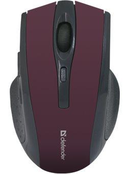 Мышь Defender Accura MM-665 Wireless Red (52668)