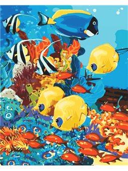 Картина по номерам - Морское царство (КНО4075)