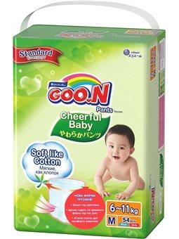 Трусики-подгузники Cheerful Baby для детей (M, 6-11 кг, унисекс, 54 шт) [843284]