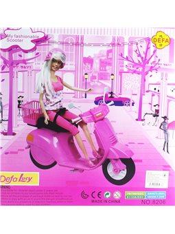 Кукла со скутером DEFA [8206]