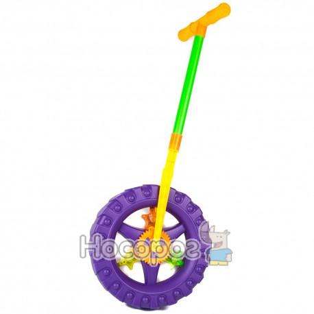 Каталка с ручкой 3621 Чудо-колесо (свет, трещит) (48)