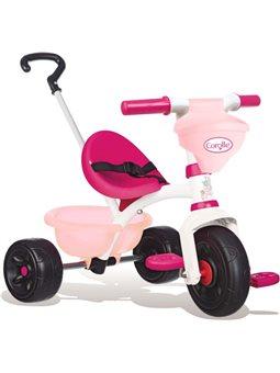 """740329 Детский металлический велосипед """"Королла Би Фан"""" с багажником и сумку, розовый, 15 мес. +"""