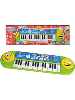 """6834250 Музыкальный инструмент """"Клавишные. Веселые мелодии"""", 32 клавиши, 8 мелодий, 6 ритм, 4 Забавные звуки, 51х14 см, 4+"""