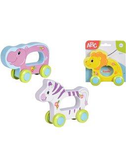 """4010199 Игрушка """"Веселая животное"""" на колесиках, 16 см, 3 вида, 12 мес. +"""