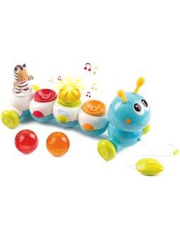 """110422 Электронная игрушка Cotoons """"Гусеница"""" со звуковым и световым эффектом, 12 мес. +"""