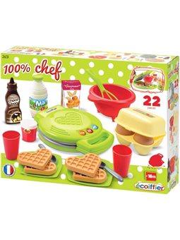 """2631 Набор """"вафельницы Chef"""" с посудой и продуктами, 18 мес. +"""