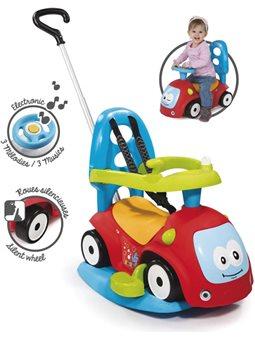 720302 Машина для катания детская Маэстро 4 в 1 с функцией качели и звуковыми эффектами, красная, 6 мес. +