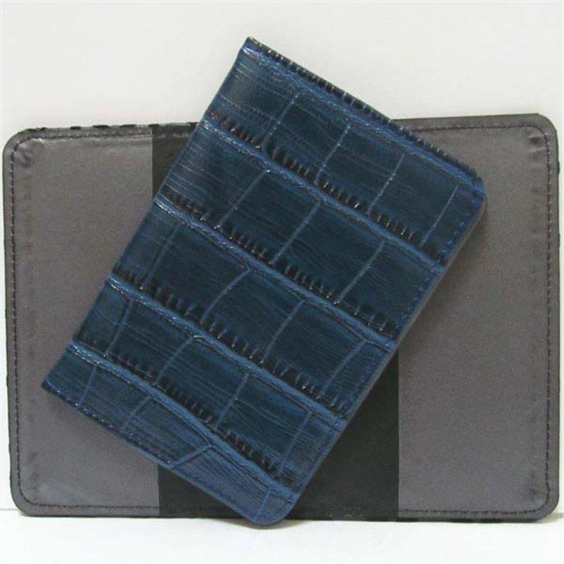 """Фото Р-4012 Обложка для паспорта """"Синяя кожа"""""""