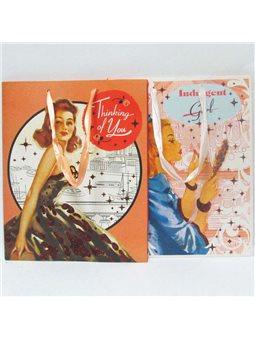 """PB11758_2 Пакет бумажный 32*26*12 см """"Girl"""" mix"""