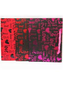 "PB11010_39*30*10 Пакет бумага ""Love"" mix3"