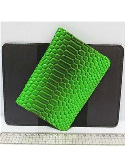 """P-7225-23 Обложка для паспорта """"Змея зелен."""""""