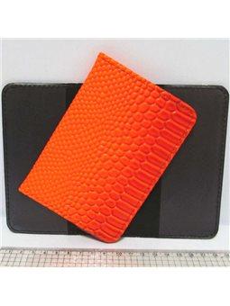 """P-7225-22 Обложка для паспорта """"Змея оранж."""""""