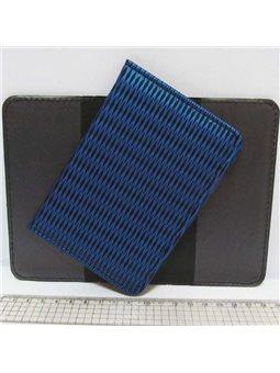 """P-7202 Обложка для паспорта """"Синее плетение"""""""