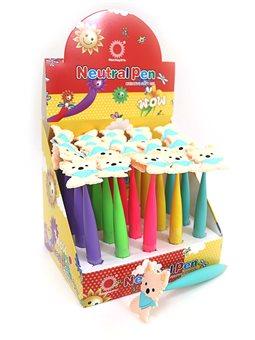 """DSCN5285 Ручка кулька силікон дет """"Йорик"""" синя, з іграшкою, mix5цв."""