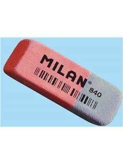 """CCM840RA Ластик прямоку. червоно-синій з фаскою """"TM MILAN"""" 5,2 * 1,9 * 0,8 см"""