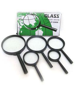 7818-75G Лупа d-75мм, стекл.линза, широкая рамка, пластик.оправа