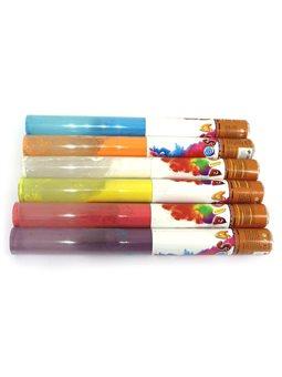 """0917-50 Хлопушка пневм. PVC """"Цветной дым"""" 50см 80g, цветная мука, бут. 7см mix5"""