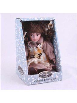 Кукла керамическая сидячая h 20см в подарочной коробке DX01184B