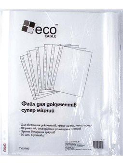 Файл А4 Eco-Eagle 100 мкм прозорий, 50 штук в