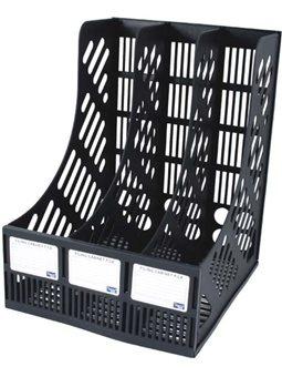 Лоток Eco-Eagle вертикальный сборный на 3 секции, цвет черный TY668-01