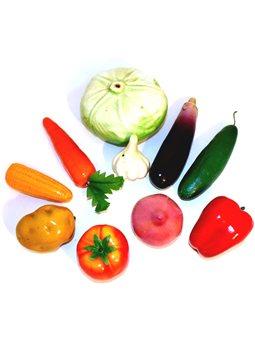 """Муляжи """" Овощи """" 10 штук, демонстрационной набор, пенопласт E-VEG"""