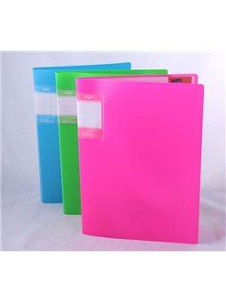 Папка Eco-Eagle на 10 файлов А4 550 мкм пластиковая, Неоновые цвета 1021-00Neon